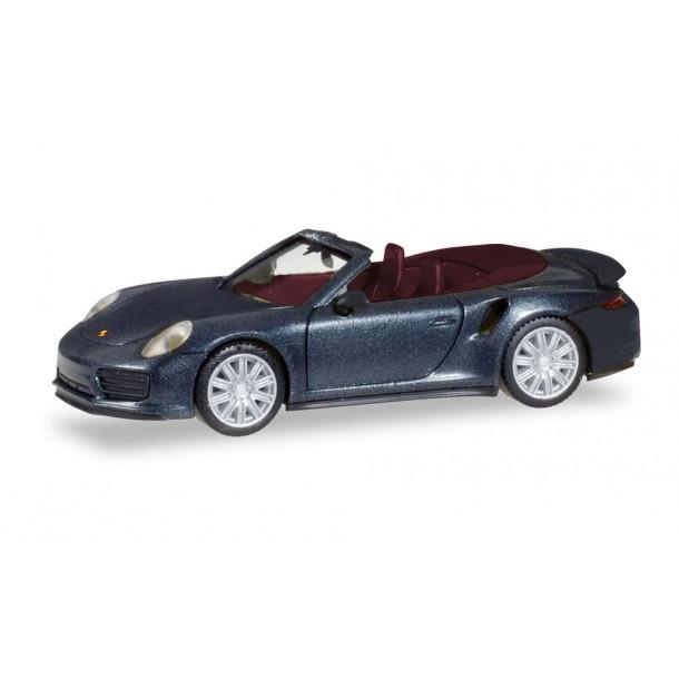 Herpa 038928 model samochodu  Porsche 911 Turbo Cabriolet, tiefschwarzmetallic, czarny  (H0)