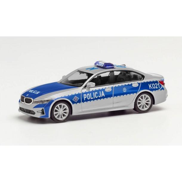 "Herpa 096249  auto  BMW seria 3 POLICJA  'K021"" (H0)"