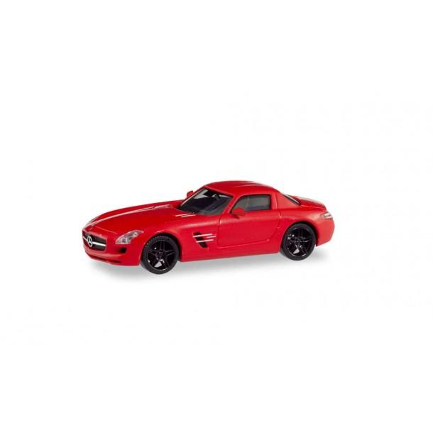 Herpa 430784  samochod MB SLS AMG,Le Mans , czerwony metalik   (H0)