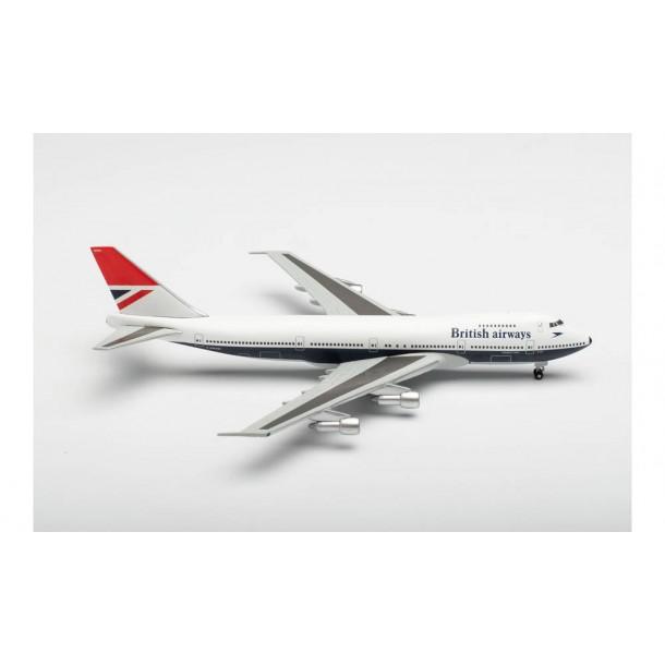 "Herpa 534857 samolot British Airways Boeing 747-100 ""747 Farewell"" – G-AWNN ""Sebastian Cabot"" (1:500)"