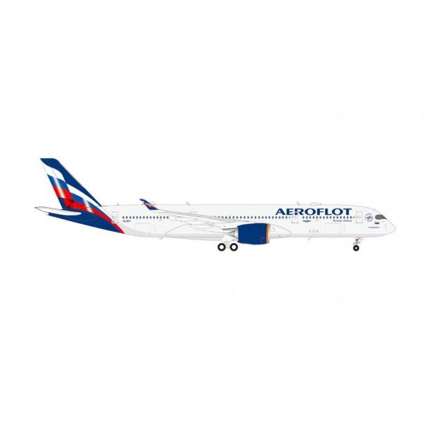 "Herpa 570978  samolot Aeroflot Airbus A350-900 – VQ-BFY ""P. Tchaikovsky""   (1:200)"