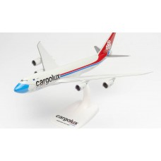 "Herpa 613118 samolot Cargolux Boeing 747-8F ""Not Without My Mask"" – LX-VCF  snap fit  (1:250)"
