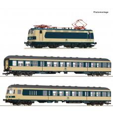Roco 61484 zestaw pociag osobowy Karlsruher Zug z lokomotywa BR141 248-5 ep.IV DCC SOUND (H0)
