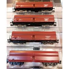 Roco 76031 zestaw 4 wagony samowyładowcze Fals  PKP EC Warszawskie - ŻERAŃ ep.V (H0) seria limitowana PMR