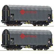 Roco 76039 zestaw 2 wagony z plandeką ermewa TEN  ep.VI  (H0)