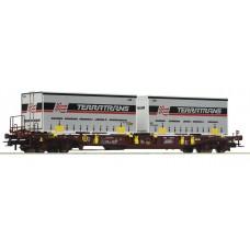 Roco 76228 wagon  platforma Sdgmns AAE 3368 451 2 009-4 z kontenerami TERRATRANS  ep.VI (H0)