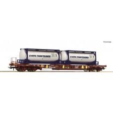 Roco 76230 wagon  platforma Sdgmns AAE 3368 458 6 167-1 z kontenerami VOTG TANKTAINER  ep.VI (H0)