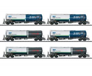 TR24206 zestaw 6 wagonów cystern OMV Wascosa / Ermewa  ep. VI (H0)