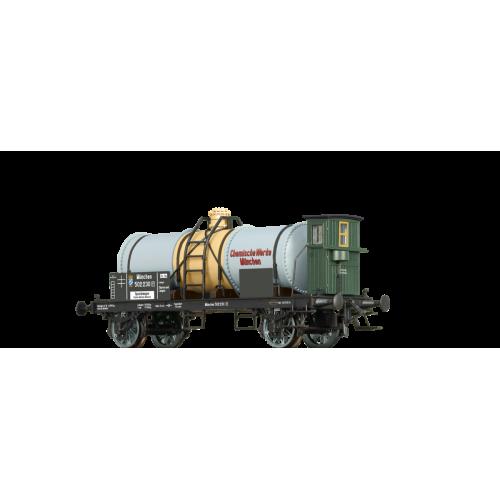 br47866 wagon cysterna K.Bay.Sts.B. 502 230 P Munchen Chemische Werke ep.I (H0)