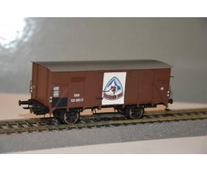 br49059 wagon towarowy zakryty  Fischer Ski OBB 521 665 P   ep.III (H0)