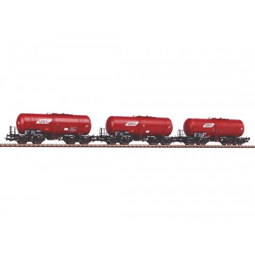 p58361 zestaw 3  wagony cysterny 406R Zas  PKP DEC   ep.VI  (H0)