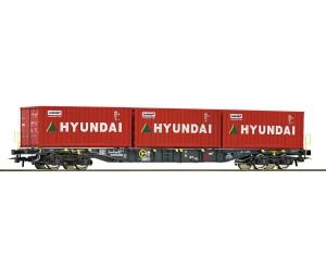 RC76932  wagon platforma z kontenerami Hyunday Ermewa    ep. VI (H0)