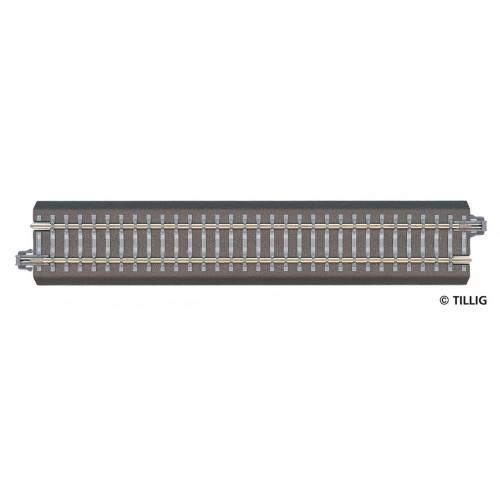 TI83740 tor prosty przyłaczeniowy G 1 = 166mm z nasypem  (TT)