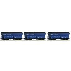 już w sprzedaży Roco 76130 zestaw 3 wagony patynowane  Falns  PKP Cargo ep.VI