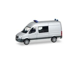h012959 auto  Mercedes-Benz Sprinter Halbbus srebrny,  policja, karetka, straż, MINI KIT (H0)