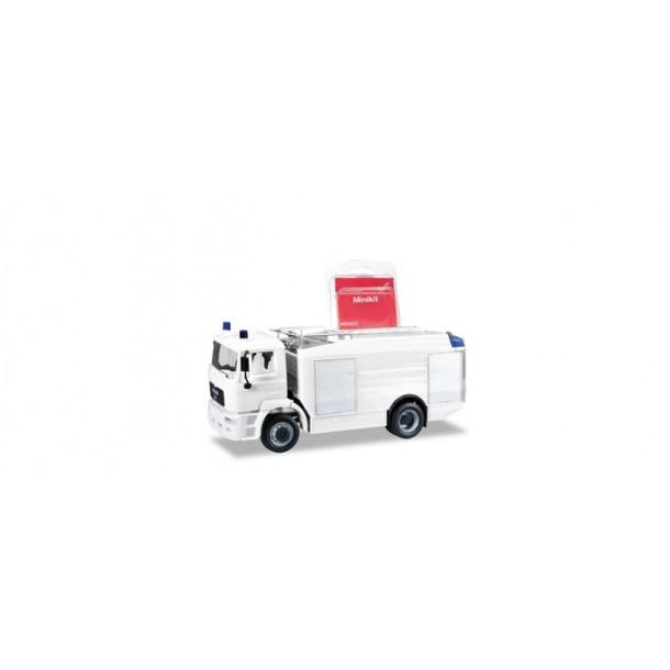 Herpa 013567 PROMO MiniKit: auto MAN M 2000 EVO Tanklöschfahrzeug, biały,  do składania (H0) (686601)