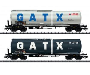 TR24213 zestaw 2  wagony cysterny LOTOS GATX NL  ep.VI  (H0)