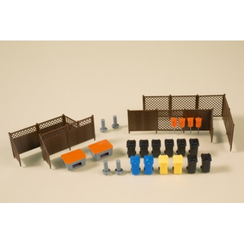 a41649 kosze,smietniki, elementy ogrodzenia   (H0)
