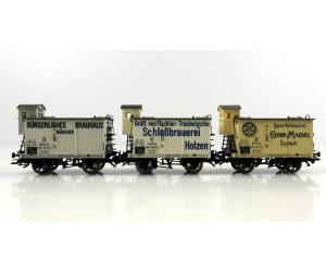 M45252 zestaw 3 wagonów piwiarek  KBayStsB  ep.I (H0)