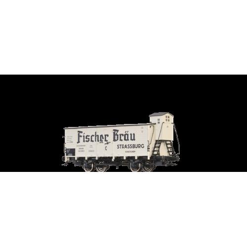 br49728 wagon zakryty G10 DRG 545295 P  Karlsruhe FISHER BRAU ELSASS   ep.II (H0)