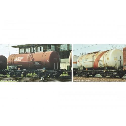 p58370 zestaw 2  wagony cysterny 406R Zas  PKP DEC   ep.V (H0)