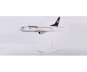 "h611220 samolot Lufthansa ""Fanhansa"" Boeing 737-300snap fit (1:180)"