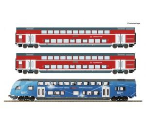 RC74155 zestaw 3 wagony pietrowe  DB AG  Bahnland-Bayern ep.VI  (H0)
