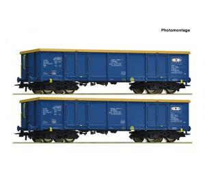 RC76086 zestaw 2  wagony weglarki z węglem ZSSK CHEM TRANS LOGISTIC Polska   ep.VI (H0)