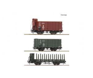 RC76094 zestaw 3 wagony towarowe   K.Bay.Sts.B.   ep.I (H0)