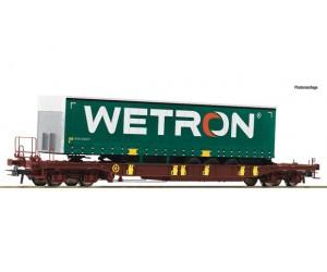 RC76232   wagon  platforma AAE z naczepą WETRON   ep.VI (H0)