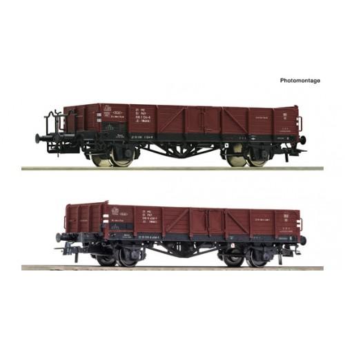 JUŻ W SPRZEDAŻY Roco 76281 zestaw 2 wagony weglarki PKP   Ep.IV (H0)