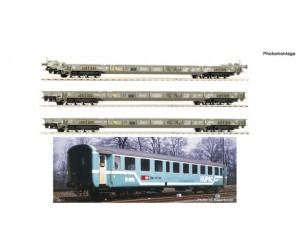 "rc76343 zestaw 4  wagonów ""Rollende Landstraße"" HUPAC  SBB CFF   ep.V (H0)"