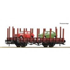 już w sprzedaży Roco 76764 wagon platforma PKP z 2 pojazdami Fiat 127 ep.IV H0