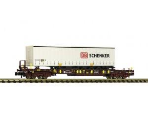 FL825050  wagon platforma Sdgmns D-AAEC z naczepą DB Schenker ep.VI (N)