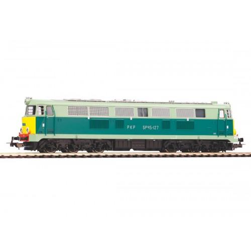 Już w sprzedaży Piko 96308 lokomotywa spalinowa Sp45-127  , gładka żółte czoło PKP ep.V (H0)