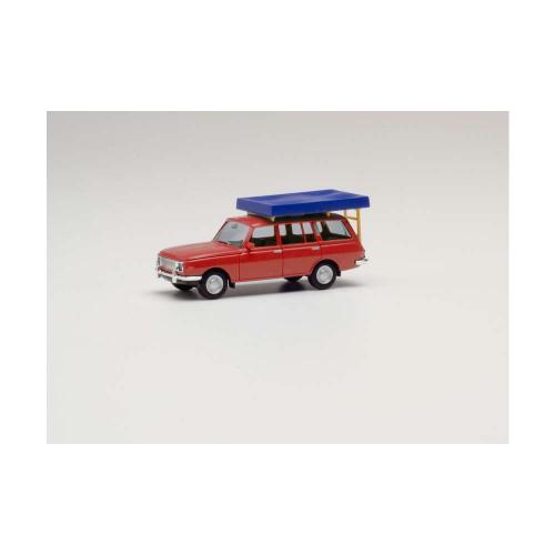 Herpa 420549  auto Wartburg 353/66 Tourist czerwony (H0)