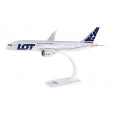 Ponownie w sprzedaży Herpa 609494 samolot LOT B-787-800 Dreamliner SNAP-FIT skala 1:200