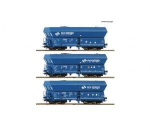 RC76046  zestaw 3 wagony samowyładowcze  Falns  PKP  Cargo ep.VI (H0)