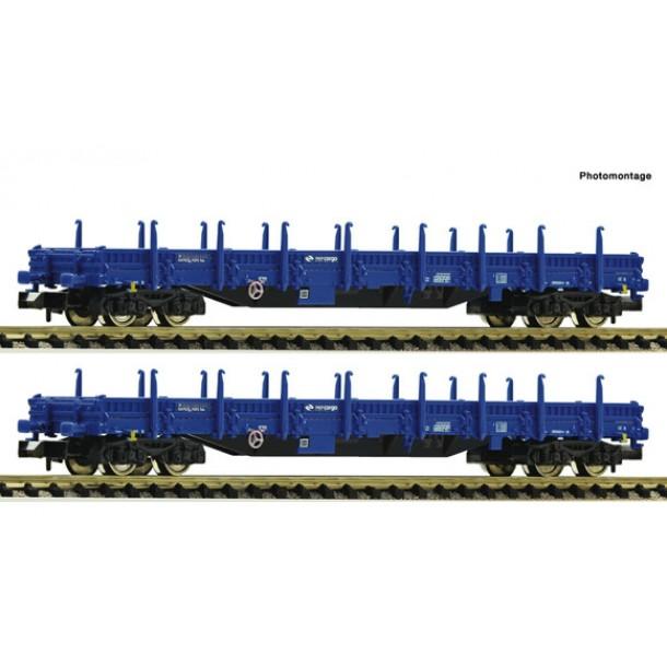 FL828825 zestaw 2 wagony platformy Res   PKP Cargo ep.VI (N)