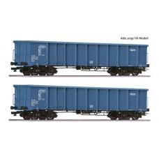 RC37544 zestaw 2 szt wagonow weglarek Eanos  CD Cargo ep.VI (TT)