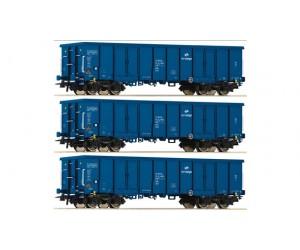 RC76128-set 2  zestaw 3 wagony  weglarki Eaos  PKP ep.VI (H0)