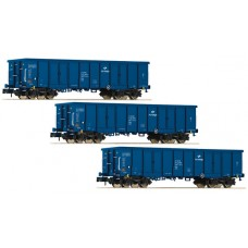 FL828342 zestaw 3 wagony weglarki Eaos  PKP Cargo ep.VI (N)