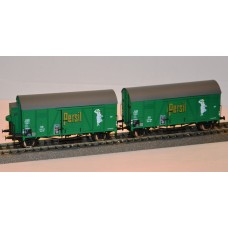 et20243 zestaw   2 wagony towarowe zakryte DB Persil  ep.III (H0)