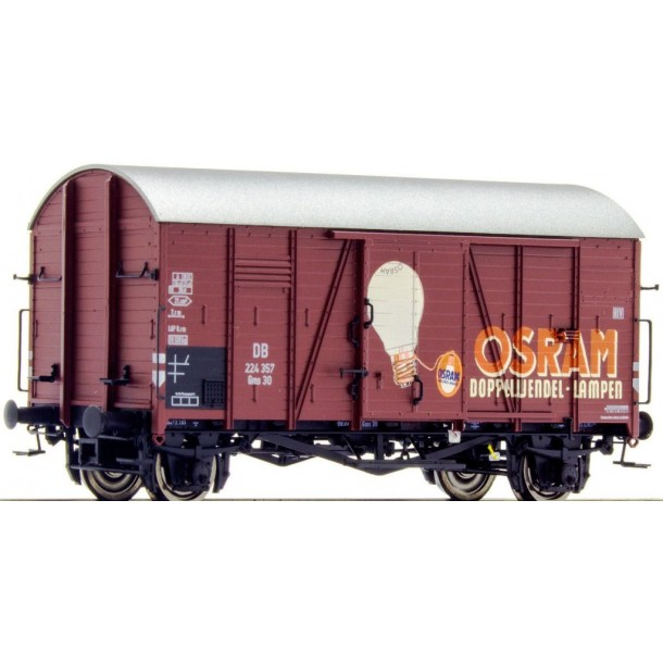 Brawa 47963 wagon towarowy Gms30  224 357 DB  Osram Lampen  Messe Modell ep.III (H0)