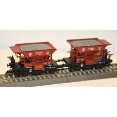 TI501654 zestaw 2  wagony  do szutru Wddah  PKP ep. III (TT)