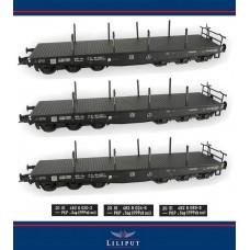 LI23573s zestaw 3szt.   wagonow  platform PKP ep.IV (H0)