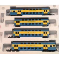 HRS4238- 4 wagonowy zespół piętrowy, serii Bhp, typ Goerlitz 74,  PR ep.VI Stacja Chojnice (H0)