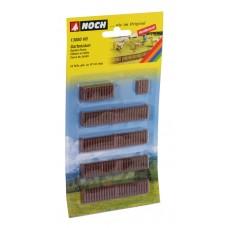 N13080 ogrodzenie drewniane 18 szt / 97cm (H0)