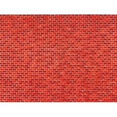A50504 płytka kartonowa mur cegła czerwona 100X 220 mm (H0,TT,N)