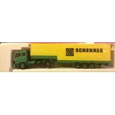 rc1576 auto MB z naczepą  Jumbo Schenker (H0)